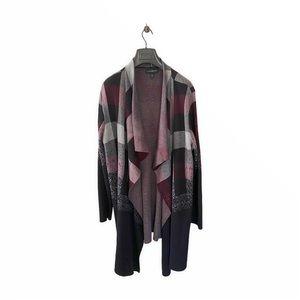 Lane Bryant Plaid Long Sleeve Open Cardigan Coats